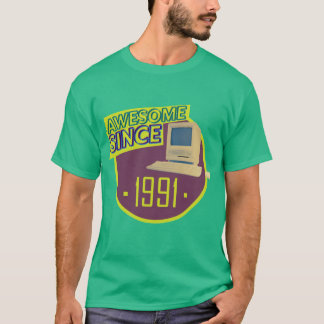 Awesome Since 1991 - Retro Computer T-Shirt