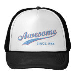 Awesome Since [Year]  [retro blue] Mesh Hats