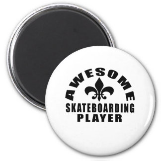 AWESOME SKATEBOARDING PLAYER 2 INCH ROUND MAGNET