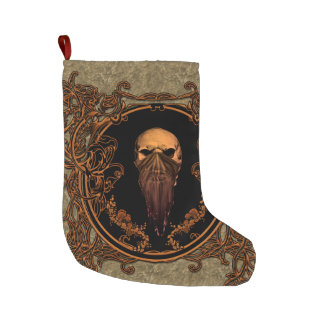 Awesome skull large christmas stocking