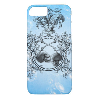 Awesome skulls with crow and floral elements iPhone 7 case
