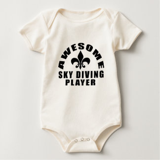 AWESOME SKY DIVING PLAYER BABY BODYSUIT