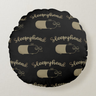 Awesome Sleepyhead Round Pillow