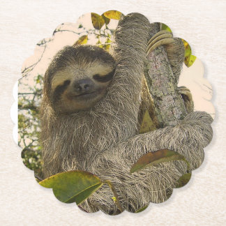 awesome Sloth Paper Coaster