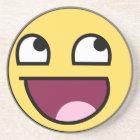 awesome smiley coaster
