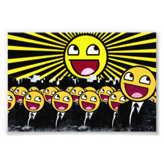 Awesome Smiley Faces Yellow Emoticon Photo Art