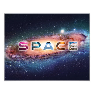 Awesome Space Text Photo Art