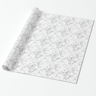 """Awesome!"" Squiggles Wrapping Paper"