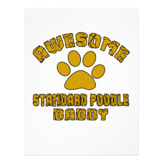AWESOME STANDARD POODLE DADDY LETTERHEAD TEMPLATE