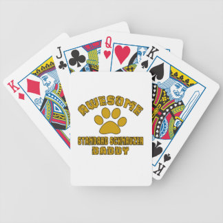 AWESOME STANDARD SCHNAUZER DADDY BICYCLE PLAYING CARDS