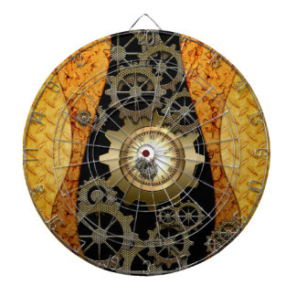 Awesome steampunk design with clocks and gears dart boards