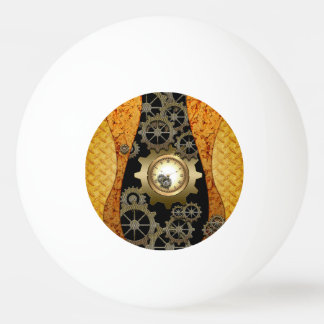 Awesome steampunk design with clocks and gears Ping-Pong ball