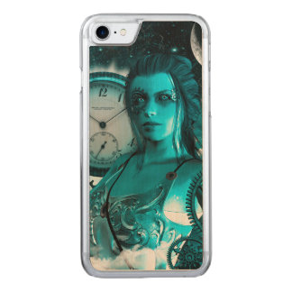 Awesome steampunk lady in the universe carved iPhone 8/7 case