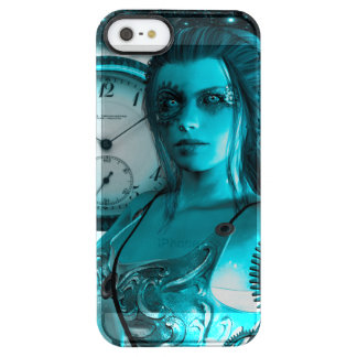 Awesome steampunk lady in the universe clear iPhone SE/5/5s case
