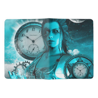 Awesome steampunk lady in the universe extra large moleskine notebook