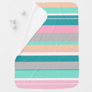 Awesome Stylish Pastel Stripes Baby Blanket