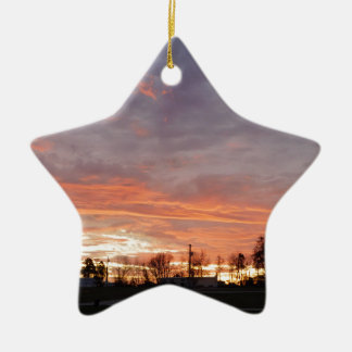 Awesome Sunset Ceramic Ornament