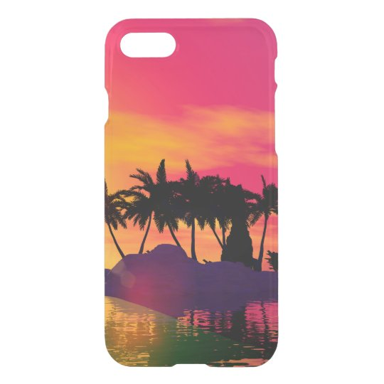 Awesome sunset in pink and gold iPhone 8/7 case