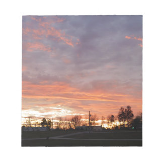Awesome Sunset Notepad