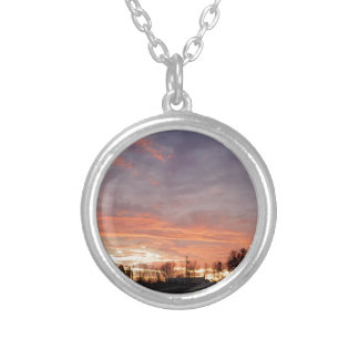 Awesome Sunset Silver Plated Necklace
