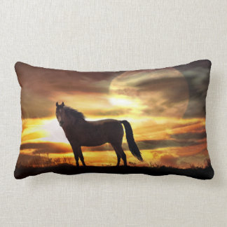 Awesome Surreal Horse in the Moon Throw Pillow