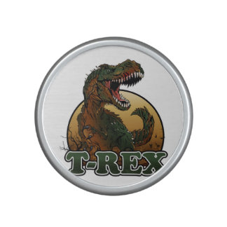 awesome t-rex brown and green illustration speaker