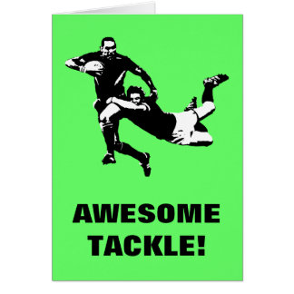 Awesome tackle,Rugby Card
