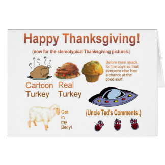 Awesome Thanksgiving Shirt Card