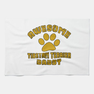 AWESOME TIBETAN TERRIER DADDY TOWEL