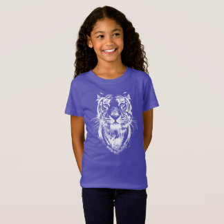 Awesome tiger cat  head portrait. T-Shirt