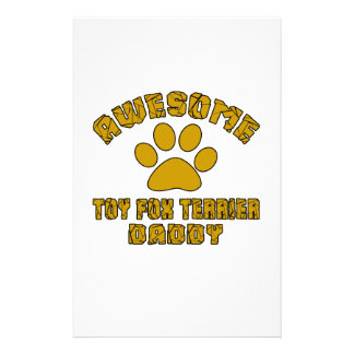 AWESOME TOY FOX TERRIER DADDY CUSTOM STATIONERY