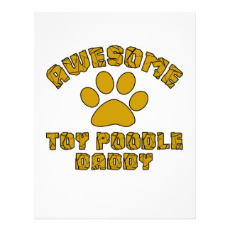 AWESOME TOY POODLE DADDY LETTERHEAD TEMPLATE