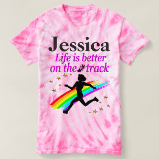 AWESOME TRACK AND FIELD STAR PERSONALIZED T SHIRT