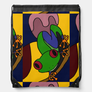 Awesome Tree Frog Art Abstract Backpack