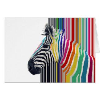 awesome trendy colourful vibrant stripes zebra card