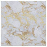 Awesome trendy modern faux gold glitter marble fabric