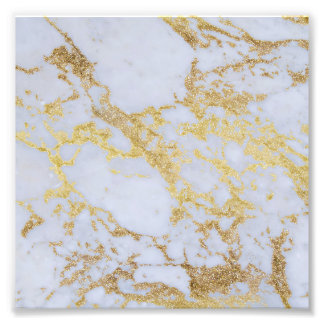 Awesome trendy modern faux gold glitter marble photo