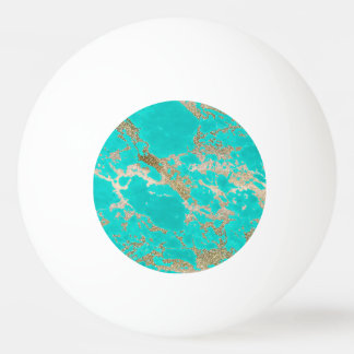 Awesome trendy modern faux gold glitter marble ping pong ball