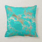 Awesome trendy modern faux gold glitter marble throw pillow
