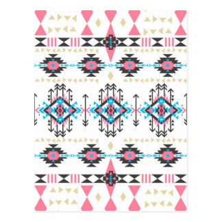 Awesome tribal ethnic Navajo geometric pattern Post Card