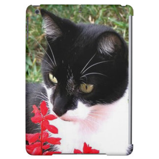 Awesome Tuxedo Cat in Garden Cover For iPad Air