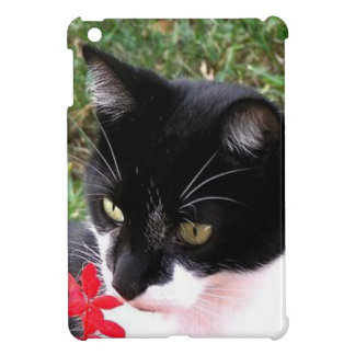 Awesome Tuxedo Cat in Garden Cover For The iPad Mini