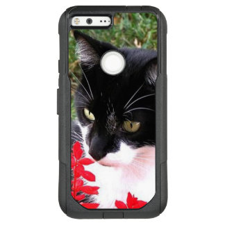 Awesome Tuxedo Cat in Garden OtterBox Commuter Google Pixel XL Case