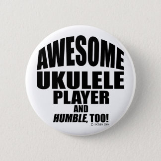 Awesome Ukulele Player 2 Inch Round Button