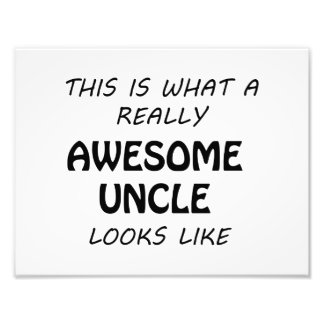 Awesome Uncle Photo Print