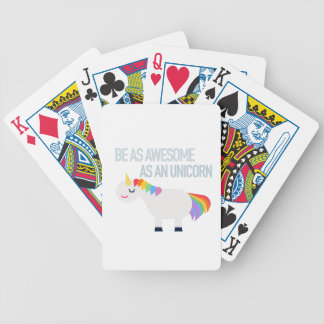 Awesome Unicorn Bicycle Playing Cards
