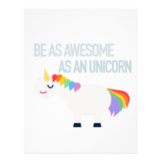 Awesome Unicorn custom letterhead