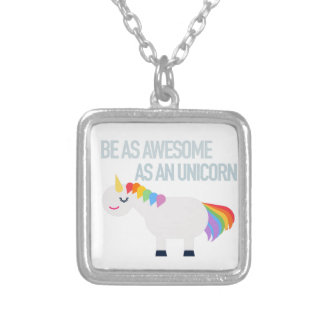 Awesome Unicorn Pendant with Silver Chain