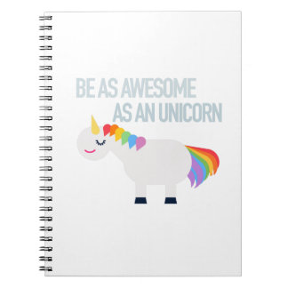 Awesome Unicorn Photo Notebook (80 Pages B&W)