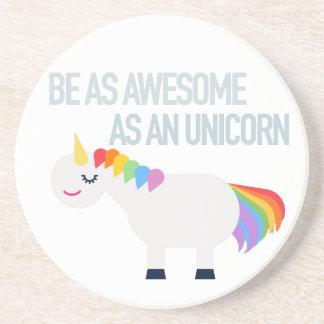 Awesome Unicorn Sandstone Drink Coaster
